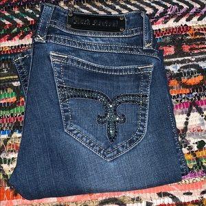 ROCK REVIVAL dark wash blue jeans 👖